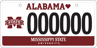 msu alumni license plate frame mississippi state development and alumni mississippi