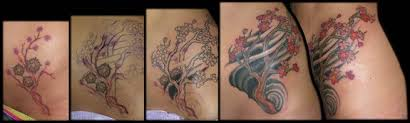 aaron goolsby tattoos color cherry blossom tree coverup