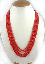 color crystal necklace images Buy aradhya five layer orange color crystal beads necklace for jpg