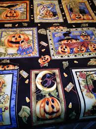 halloween fabric panel 6 crystal vision quilting