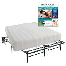 curve memory foam queen mattress with bed frame