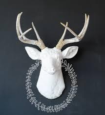 Deer Head by Deer Head Gold Shabby Chic Deer Head Wall Mount Deer Custom