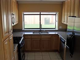 kitchen style contemporary brown shaped kitchen designs small u