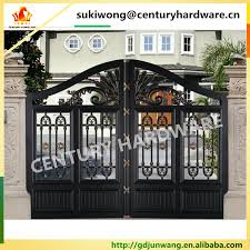 alibaba china simple iron pipe gate design gate grill fence design