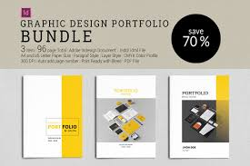 portfolio design pdf bundle graphic design portfolio brochure templates creative
