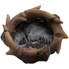Outdoorsman Home Decor Amazon Com Decorative Deer Antler Ashtray In Rustic Hunting Lodge