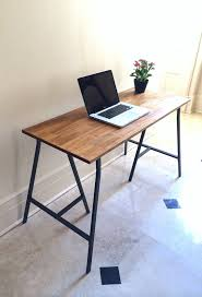 Trestle Computer Desk This Listing Is For A Hand Finished Desk On Ikea Trestle Legs