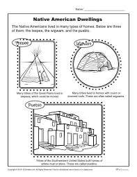 native american dwellings reading worksheets native americans