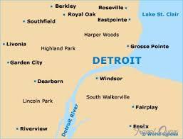 map usa detroit detroit metro map http travelquaz detroit metro map 2 html