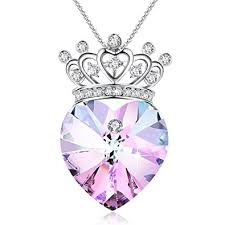 valentines necklace valentines gifts princess crown pendant