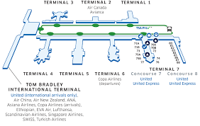 seattle airport terminal map lax airport map united airlines