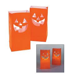 party city promo code halloween amazon com fun express jacko u0027lantern luminary bags pumpkins