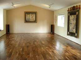 two color laminate flooring with bright white and brown wood