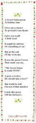 25 unique secret santa poems ideas on pinterest secret santa