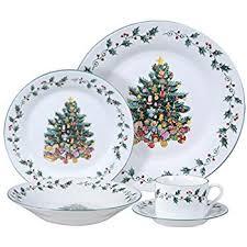 christmas dinnerware gibson home tree trimming 20 ceramic dinnerware