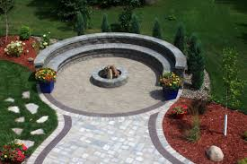 Circular Patio Seating Pavers Villa Landscapes