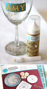 how to personalize a wine glass diy glitter wine glass easy craft tutorial