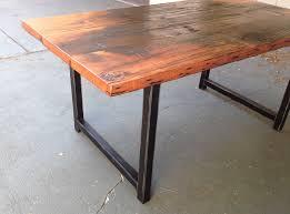 custom reclaimed wood and metal dining table the coastal craftsman 68