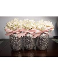 centerpiece for baby shower spectacular deal on 3 glitter jars pink ribbon centerpiece