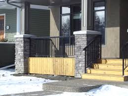aluminum deck railing edmonton south side ornamental radnor