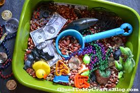 treasure hunt sensory bin idea