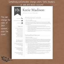 teacher resume template the katie madison u2013 landed design solutions