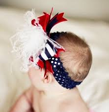 white and blue headband july 4th white blue the top hair bow headband