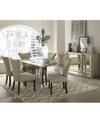 mirrored dining room table sophia mirrored dining room furniture collection furniture macy s