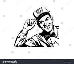 retro martini clip art friendly service man retro clip art stock vector 56413690