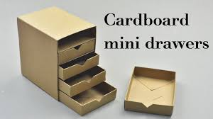 diy cardboard mini drawers tutorial youtube