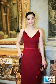 chinese actress mei ting poses in red dress 1 chinadaily com cn