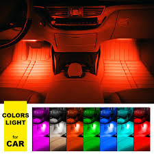 Led Strip Lights For Car Interior by Aliexpress Com Buy 4 9 Led Car Light Interior Atmosphere Suv
