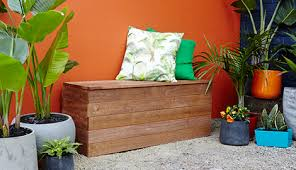 how to make a d i y outdoor storage bench seat bunnings warehouse