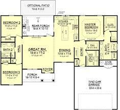 farmhouse style house plan 3 beds 2 00 baths 1609 sq ft plan 430 77