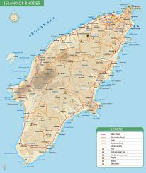 Map Of Greece by Rhodes Tourism Info Web Sites