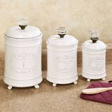 williams ceramic canisters set of 3 white ceramic canister set