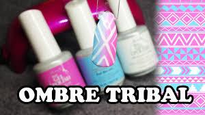 simple gel polish ombre tribal design summer nail art youtube