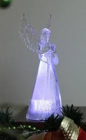 lighted angel christmas decoration led lighted acrylic praying angel figurine christmas decor