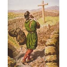 the pilgrims book christian loses his burden at the cross from the book the pilgrims