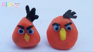 clay model tutorial from angry bird toys with clay angry birds
