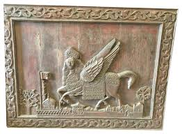 wood wall sculptures consigned antique indian al buraq carved wood wall sculpture