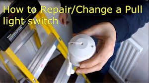 how to repair change a pull cord light switch video explanation