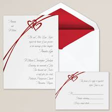 wedding invitations red and silver 5 best images of silver hearts wedding invitations silver double