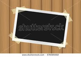 polaroid frames on wood background download free vector art