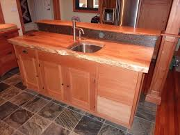 figured maple kitchen island detail burns jennings custom art