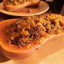 cuisiner une courge butternut courge butternut farcie au boeuf cuisine de mémé moniqcuisine de