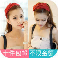 korean headband buy korean version of the big wide fabric ribbon bow headband