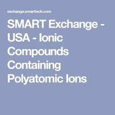 poly atomic ions chart naming compounds boundless chemistry quia