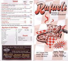 rafael u0027s italian restaurant menu urbanspoon zomato