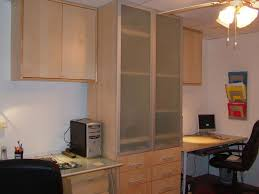 We Wanted A Built In Home Office But Were On A Budget So IKEA Was - Kitchen cabinets for home office